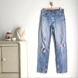 Vintage LEVI'S Amazing Distressed ORANGE TAB Jeans
